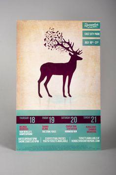 Outdoor Music Festival Poster  © Design by Jacque Lombardo jacquelinelombardo.com  Adobe Illustrator & Photoshop. Pen tablet.