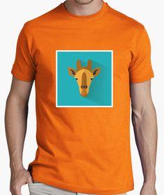 Giraffe, Jirafa. Mens Tops, T Shirt, Fashion, Felt Giraffe, Chemises, Colors, Supreme T Shirt, Moda, Tee Shirt