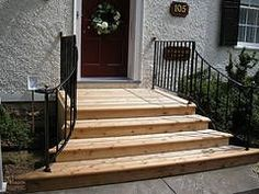 steps to patio back door | we recently finished the steps and deck ... - Patio Step Ideas