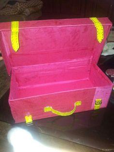 Shoebox turned into suitcase