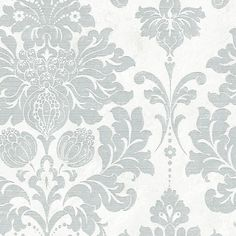 Norwall Wallcoverings Inc Silk Impressions x In Reg Damask Wallpaper Roll Color: Silver / Pearl