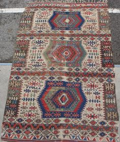 Nice early Anatolian kilim. Some old restaurations, splits and very dirty, otherwise in good and complete as found condition. Measurements: ca. 278cm x 162cm. If you are interested, please ask for more images.