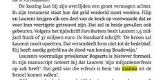 prince Laurent heeft dotatie niet nodig (bron: Prins Laurent, rebel met een reden)