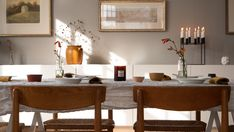 Dining table in a scandinavian home