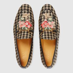 Gucci Jordaan houndstooth loafer