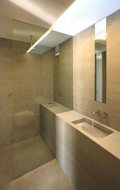Modern bathroom inspiration by COCOON Minimal Bathroom, Modern Bathroom, Small Bathroom, Stone Bathroom, Glass Bathroom, Bad Inspiration, Bathroom Inspiration, Interior Architecture, Interior Design