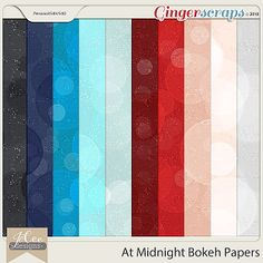 At Midnight Bokeh Papers by JoCee Designs