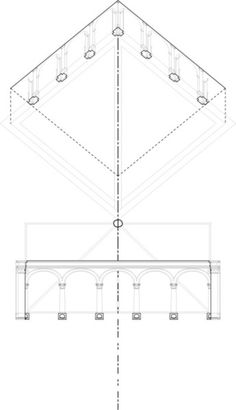 """Here's one of my drawings from the Formal Analysis course taught by Peter Eisenman.  """"Analyze the difference between the corners at Bramante's Santa Maria della Pace in Rome and Laurana's Palazzo Ducale in Urbino."""""""