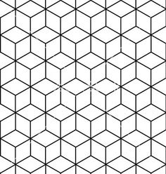 Seamless geometric pattern background design vector  by rln on VectorStock®