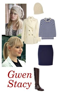 Gwen Stacy 1 by lj-case on Polyvore featuring polyvore, fashion, style, J.Crew, The Row, Ralph Lauren Black Label, Tory Burch, Beaumont Organic, jared and clothing