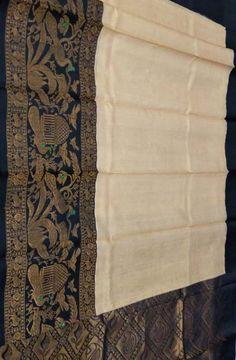 Pastel Handloom Kuppadam Silk Saree