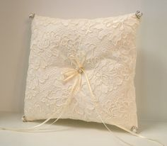 Ring Bearer Pillow Ring Pillows Alencon Lace by CouturesbyLaura, $45.99