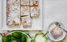 Feijoa and custard crumble tart recipe - By Woman's Day (NZ edition), This recipe has layers of delicious sweet pastry, feijoas, custard and crumble that combine to make an irresistible slice