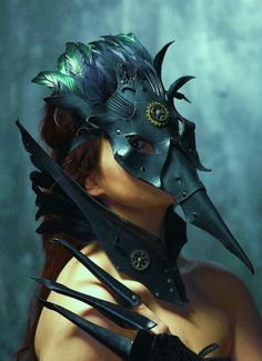 Wow-ZA!! This is one Rockin' steampunk crow mask!!  by VincentCantillon