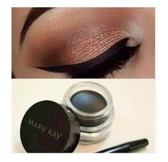 Delineador em gel faz um traço perfeito! Mary Kay Ash, Best Makeup Products, Eyeshadow, Skin Care, How To Make, Beauty, Style, Eye Shadow Tutorial, Gel Liner