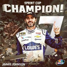Jimmie Johnson 7x Sprint Cup Champion!!!!!!!!                                                                                                                                                                                 More