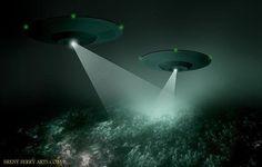 TWO UFO LAZERING WOODS By KEN PFEIFER (1) | Flickr - Photo Sharing!