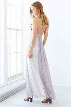 Kimchi Blue Stormy Deluxe Maxi Dress- Grey