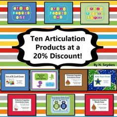 This jumbo articulation bundle includes ten homework packets and games at a 20% discount!