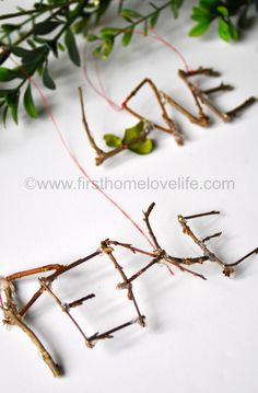 DIY Twig Ornaments http://www.firsthomelovelife.com/2013/11/diy-twig-ornaments.html