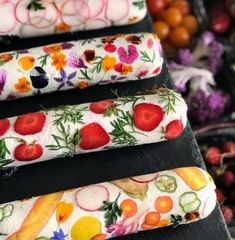 """Union Square Events ( """"Executive Chef dreamed up a striking way to elevate a log of goat cheese; check out…"""" Cheese Art, Goat Cheese, Cheese Food, Aperitivos Finger Food, Delicious Desserts, Dessert Recipes, Sandwich Cake, Snacks Für Party, Food Decoration"""