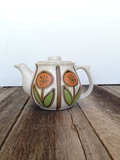 vintage 1960s Midcentury Ceramic Teapot