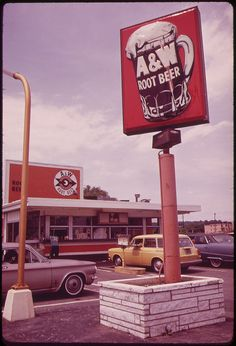 Vintage A and W Root beer Restaurant! Coney islands and ice cold root beer! And only as a drive in eat in car Drive In, My Childhood Memories, Best Memories, Along The Way, Back In The Day, A&w Root Beer, Vintage Restaurant, Restaurant Signage, I Remember When