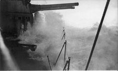 HMS Hood, in heavy weather.