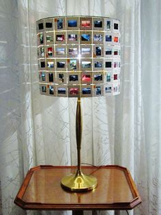photo slide lamp shade, slides of Asia via Etsy