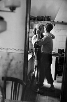 Dancing in the kitchen from the cover of The Marriage Artist
