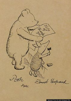 Original Winnie The Pooh Sketch by Ernest Shepard