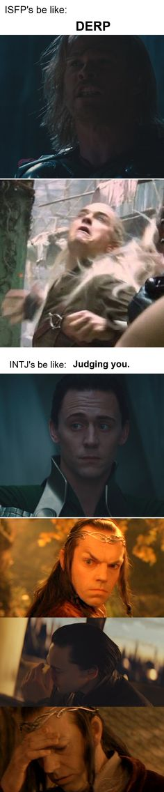 For my friend, Thor. (by Loki of Jotunheim) || HAHAHA XD OH MY GOODNESS THAT LEGOLAS DERP THING