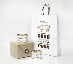 Real meat by Malgorzata Studzinska, via Behance. Oink oink #meat #packaging PD