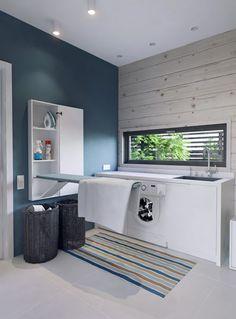 Zona de lavado y plancha en una habitación de 9 m2