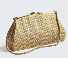 Ladies gold and diamond evening bag. Of three tone gold woven mesh design - Silver, Ancient and Contemporary Jewels - Cambi Casa d'Aste Basket Bag, Vintage Purses, Diamond Gemstone, Evening Bags, Louis Vuitton Damier, Solid Gold, Handbags, Jewels, Pure Products