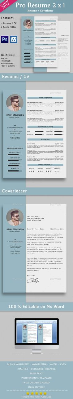 Resume cv word Resume cv, Template and Cv template - font on resume