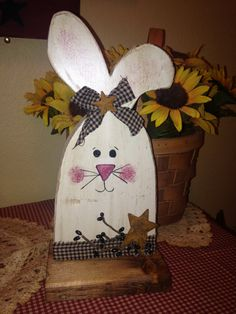 Primitive Easter Bunny by Theprimcrafter on Etsy