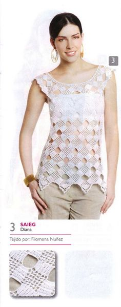 Blouse really nice block design ♥LCT♥ with diagram