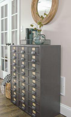 Restored Vintage Metal Hardware Cabinet