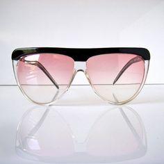 293b7672407 Laura Biagiotti designer sun glasses - light rose lenses - 1980s - T103  Oxsol- like new vintage - aviator shape