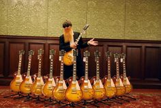 """Billy Gibbons Presents the Gibson, Les Paul Standard """"Pearly Gates"""" Collection. Billy Gibbons Guitar, Billy F Gibbons, Les Paul Standard, Stars Play, Rock Stars, Famous Guitars, Les Paul Guitars, Zz Top, Texas"""