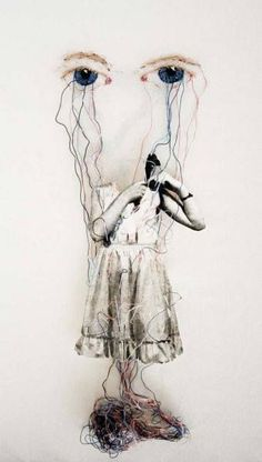 lnop avec un A comme op Ulla Jokisalo Under supervision, 2008 Giclee print, needles and embroidery on canvas (Source : nearlya) Art Photography, Embroidery Art, A Level Art, Fabric Art, Visual Art, Art, Contemporary Textiles, Collage Art, Textile Artists