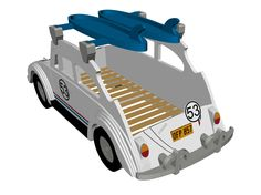 VW Beetle bed by Fun Furniture Collection
