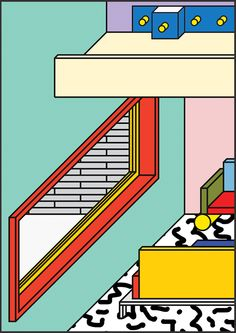 Town Planning by Peter Judson Retro Design, Graphic Design, Memphis Design, Pretty Art, Digital Illustration, Architecture, Cool Art, Typography, Design Inspiration