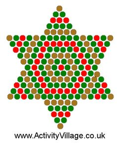 Christmas Star Fuse Bead Pattern