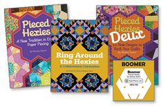 WIN 3 quilt books and a Hexie Acrylic Boomer template from Quilt Trends Magazine!  ENTER by August 21st at http://www.quilttrendsmag.com/giveaways/.