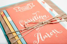 Christina & Aaron Wedding Invitation Suite by Patti Murphy, via Behance