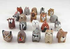 Animal totems made from polymer clay created by HandyMaiden on Etsy - so beautiful!
