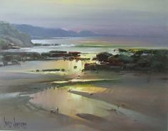 Ivars Jansons Solo Exhibition - Flinders and Sorrento Fine Art Galleries Abstract Landscape Painting, Seascape Paintings, Watercolor Landscape, Landscape Paintings, Landscape Photos, Landscape Art, Beach Art, Fine Art Gallery, Nature Pictures