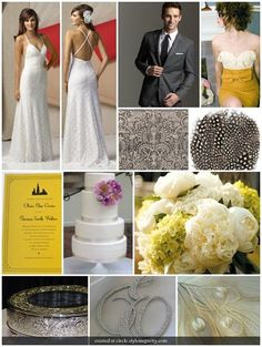 Art Deco Wedding inspiration. #wedding #artdeco #oldhollywoodglamour